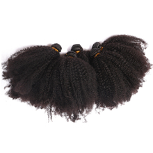 Mongolian Afro Kinky Curly Weave Human Hair Bundles Honey Queen Hair Products Non Remy Natural Color Hair Weaving Extensions(China)