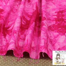 50x140cm Soft Linen Cotton Slub Fabric Pink Tie-dyed Fabrics for Sewing Clothes Garments Dress Curtain Tissue Cloth 1Pcs/Lot(China)
