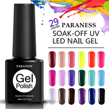 Paraness Soak off Fashion Colors Gel Nail Polish Blue Color Series Nail Gel Vernis Semi Permanent Polish Gel Polish