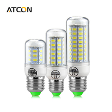1 X Real No Flicker 100% Original Smart IC Driver Power 110V 220V E27 LED Corn Bulbs light E27 Long Life Span Health LEDs lamp