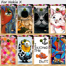 Hard Plastic Cell Phone Skins Cases For Nokia X A110 Cases 22 Styles Colorful Anti-Knock Top Rated Protective Skin Shell Housing