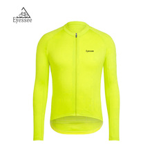 2018 Eyessee solid color long-sleeved cycling clothing Ropa Ciclismo autumn competition to wear bicycle jersey 5 colors!(China)