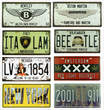 Old Car Bus Metal Poster Plate Vintage Retro Art Tin Sign Home Wall Bar Club Coffee Shop Decoration WYQ