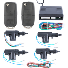 In stock! Universal quality remote control central door locking system 4 doors 1 control 3 with custom flip key FOB DC12V(China)