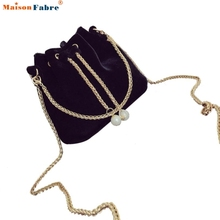 Women Fashion PU Solid Handbag Drawstring Shoulder Bag designer handbags high quality Tote Ladies Purse  san15 pin