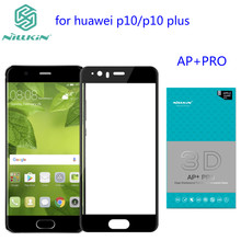 Huawei P10 Tempered Glass Nillkin 3D AP+ PRO 0.23mm Carbon Fiber Soft Side Full Cover Screen Protector For Huawei P10 Plus(China)