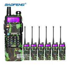 6pcs Baofeng Walkie Talkie UV-5R 3800mAh VHF UHF Dual Band Ham Radio Transceiver Portable walkie talkie professional CB Radio(China)