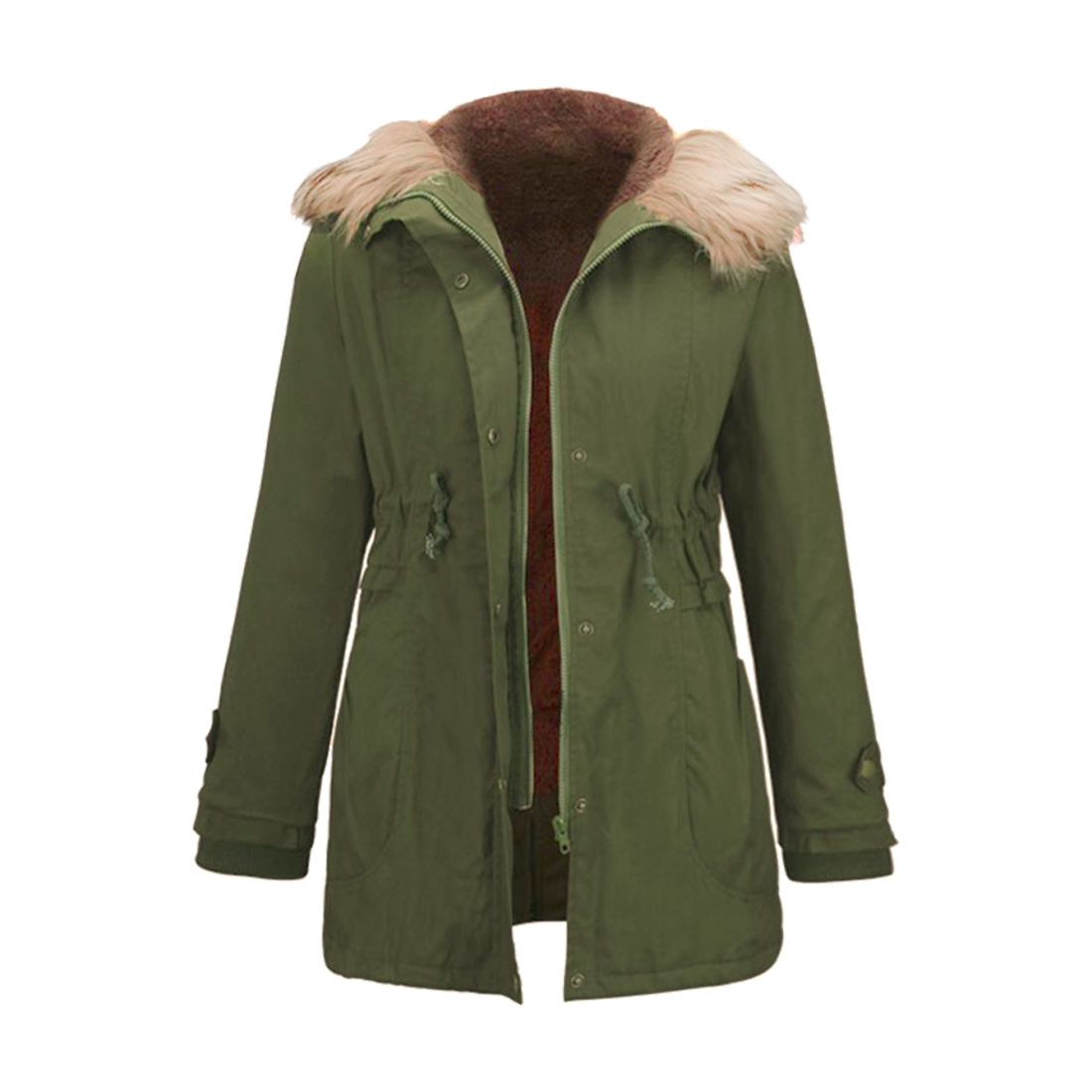 Womens Winter Jacket Liner Casual Coat Overcoat Military Hooded Thickening Warm Cotton Coat Medium-Long Jacket Fur CoatsОдежда и ак�е��уары<br><br><br>Aliexpress