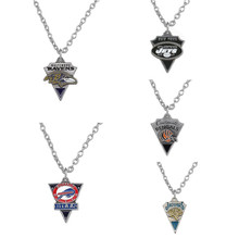 Skyrim Fashion American Football AFC Series Triangle Shaped Jewelry Zinc Alloy Antique Pendant Necklace(China)