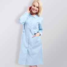 Hospital&Clinic&Beauty Salon Woman Nurse Clothing Long-sleeve White Overcoat Physician Services Lab Coat Work Wear,HS1