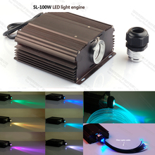 100W LED light Fiber Optic power supply light engine with RGB 24key remote control(China)