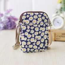 Women Shoulder Phone Bag For Iphone 6/6s Plus Clip hanging UniversalCanvas Cute mobile Pouch Neck 6 5.5 4.7 inch Mini