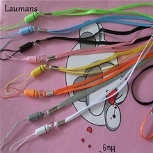 Laumans 50pcs/lot lanyard strap for Phone Camera USB MP4 For Wii PSP Wrist Hand Strap Lanyard mobile phone lanyard rope(China)