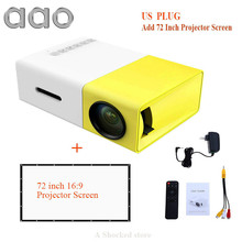 Original AAO YG300 LED Portable Projector 500LM 3.5mm 320x240 Pixel HDMI USB Mini YG-300 Projector Home Media Player