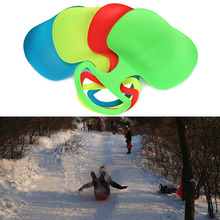 Outdoor Winter Plastic Skiing Boards Snow Grass Sand Board Ski Pad Snowboard Sled Luge For Kids/Adult(China)