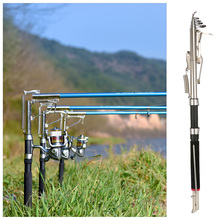 Telescopic Automatic Fishing Rod 2.1/2.4/2.7m Sea Shore River Lake Fishing Rod with Stainless Steel Ends Field Cutting De Pesca(China)