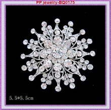 Wholesale(60pcs/lot) Clear crystal rhinestone Silver tone Wedding invitation Pin Brooches!!