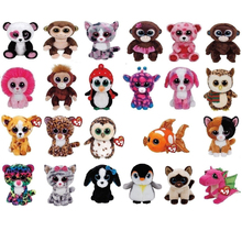 "Ty Beanie Boos Plush 6"" 10"" Stuffed Animals Dog Cat Owl Elephant Fox Unicorn Leopard Penguin Lynx Spider Dragon Doll Toy(China)"