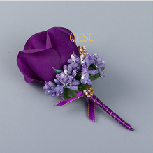 Plum purple Silk Flower sinamay fascinator with berries DIY bridal fascinator hand-made flower Corsage Dress clothes bag wedding