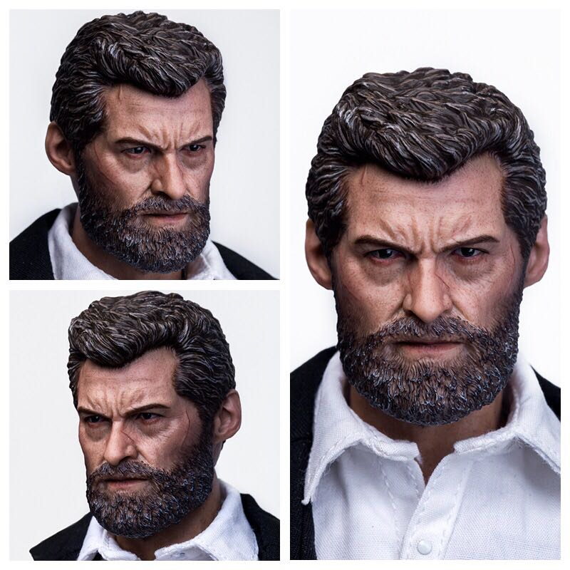 Old Hugh Jackman Logan 1/6 Wolverine Head Sculpt for 12 Inches Male Bodies Accessories Gifts Toys Brinquedos Collections  <br>