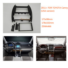 Car DVD/CD Radio Stereo Fascia Panel Frame Adaptor Fitting Kit for TOYOTA Camry USA-version 2011+(China)