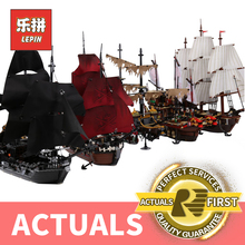 Lepin pirate ship Caribbean SILENT MARY 4184 70618 Movie Capta Black Pearl LegoINGlys 71042 10210 Building Blocks toys 4195 4184(China)