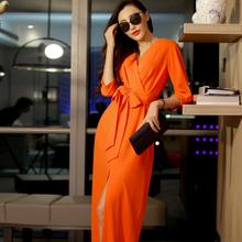 Buy new women 's European American long paragraph dress temperament mopping dress for $21.70 in AliExpress store