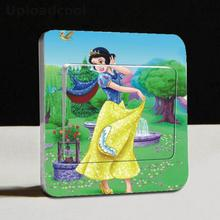 1 PCS Snow White 1 Cute Cartoon Stickers Stickers Children Living Room Housing Allowance Moment Remove Switch Sticker(China)