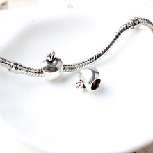 free shipping Silver plated nice fruit charms big hole beads Fit roll necklace/Bracelet  women  DIY jewelry charms Beads S06