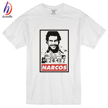 Euro Size,2017 Fashion Narcos Pablo Escobar T shirts Netflix Movie Hip Hop Swag T-shirt Cotton Short Sleeve Tops,GT270