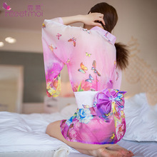 Buy Japanese Style Chiffon Kimono Uniform Sexy Babydoll Hot Sex Erotic Lingerie Women Porn Sex Clothes Mini Dress Nightwear