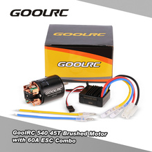 GoolRC RC Part Motor Brushed 540 45T Brushed Motor with 60A Brushed Electric ESC Combo for 1/10 RC Rock Crawler Climbing Car(China)