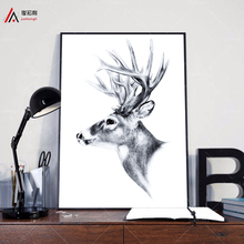 Indian Animals Head Hippie Fashion Deer Horse Zebra A4 Large Art Print Poster Wall Pictures Canvas Painting No Framed Home Decor