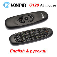 Original Russian Version C120 Air Mouse 2.4GHz Wireless Keyboard  axis gyroscope Gaming for Computer  Android TV BOX