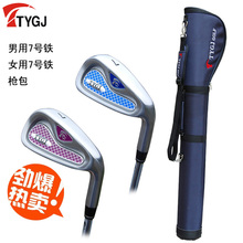 Brand TTYGJ. Single 7 IRON Regular Flex for lover. 7iron golf club steel or carbon shaft with bag. golf club #7 Lovers suits(China)