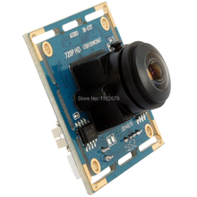 170 degree megapixel fisheye lens 1280 x 720 MJPEG 30fps OEM micro mini usb 2.0 webcam camera module support microphone