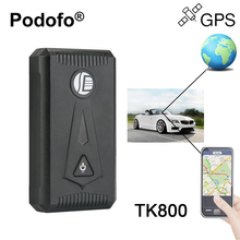 Podofo TK800 Vehicle GSM/GPRS/GPS Tracker Real Time Tracking Global Satellite Locator with Magnet 6600mAh SOS Geo-fence Alarm(China)