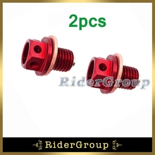 2pcs Oil Magnetic Drain Bolt Plug For Chinese 50cc 90 110 125cc 140 150 160 cc Lifan YX Zongshen Loncin Engine Pit Dirt Bike(China)