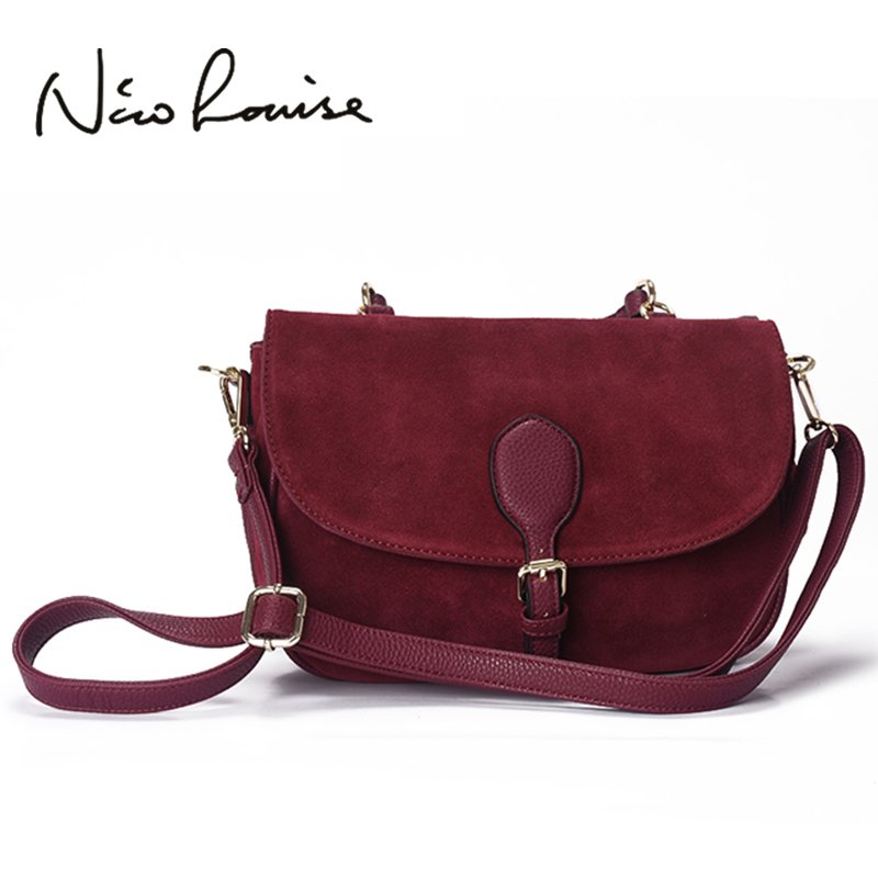 2017 Women Suede Split Leather Shoulder Bag Fashion Lady Saddle Handbag Casual Hobo Messenger Crossbody Top-handle Bags Bolsa <br>