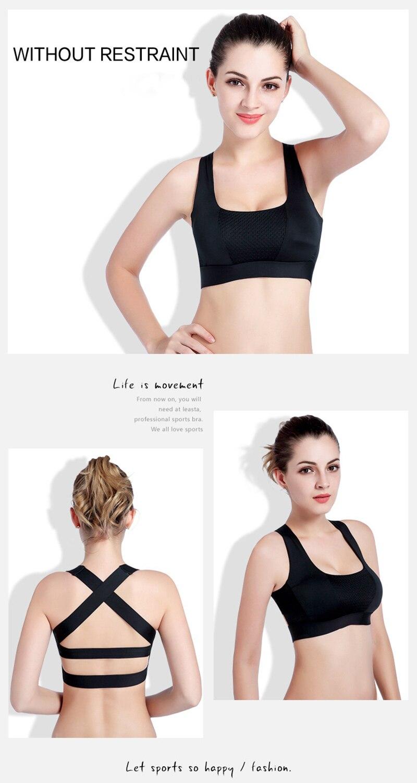 Women Cross Design Sports Bra Push Up Shockproof Vest Tops with Padding for Running Gym Fitness Jogging Yoga Shirt (17)