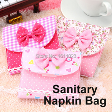 New Random Color Sanitary Napkins Pads Carrying Easy Bag Small Articles Gather Pouch Case Bag(Random Color)