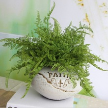 Christmas Artificial Silk Flower Decoration Rustic Pine fern Leaves For Dinner Table Wedding Decoration Cheap Fake Flowers