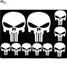 Rhino Tuning White The Punisher SKULL PVC Sticker Badge Car Boot Wind Side Emblem Decal Fit E90 E92 E93 F01 F02 F03 F04 F10 075(China)