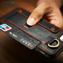 For IPhone 6s Case Luxury Genuine Leather Phone Case with Zipper Wallet Purse Pouch Handbag Metal Ring Grip Flip Full Cover Case
