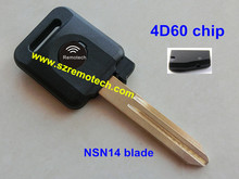 NEW FOR NISSAN / INFINITI Transponder Key Blank Ignition with Chip ID 4D 60