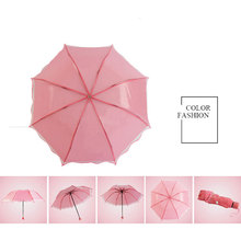 Apollo Princess Umbrella Rain Woman Semi-tansparent Umbrellas Fashion Umbrella 3 Fold Parasol Creative Sunshade