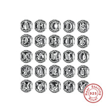 Buy Authentic 925 Sterling Silver Vintage R, White CZ Letter Charms Fit Pandora Bracelets & Bangles Silver Jewelry PSC008 for $7.68 in AliExpress store