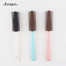 Fluffy Hair Comb Round Rolling Plastic Hairstyle Wavy Curly Hair Care Brush Hair Comb Hairdressing Barber Tools 3 Colors