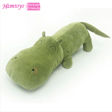 Hamtoys 60cm Cotton Cushion Plush Hippo Stuffed Toys Boy Girl Hippopotami Sleeping Pillow Large Soft Toy for Children Kids #SA21