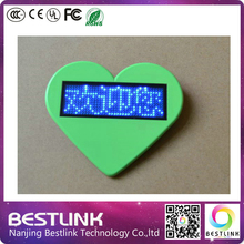 led moving messages rechageable mini led sign B1236X led name card business card programmable led name tag with magnet